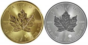 Gold and Silver Maple Leafs