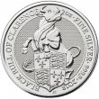 2018 2 oz Great Britain Silver Queen's Beasts Coin - The Bull - Gem BU