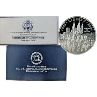 2002 West Point Commemorative Silver Dollar Coin (Proof)