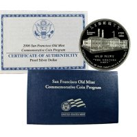 2006 Old San Francisco Mint Commemorative Silver Dollar Coin (Proof)