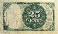 5th Issue 1874 25 Cents Fractional Currency - Fine or Better