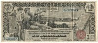 1896 $1.00 Educational Silver Certificate - Large Type - Fine Condition