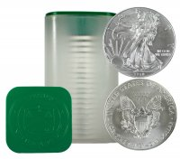 2018 1 oz Silver Eagle Roll - Never Opened - In Stock and Shipping - Save on Quantities!