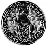 2018  2 oz Great Britain Silver Queen's Beasts Coin - The Unicorn - Gem BU