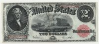 1917 $2.00 Legal Tender Note - Large Type - About Uncirculated