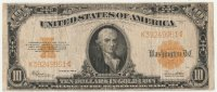 1922 $10.00 Gold Certificate - Large Type - Fine
