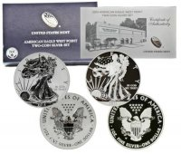 2013-W 2-Coin American Silver Eagle West Point 75th Anniversary Set - (w/ Box & COA)