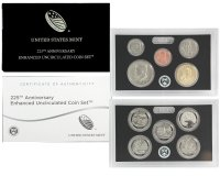 2017 U.S. Mint 225th Anniversary Enhanced Uncirculated Coin Set