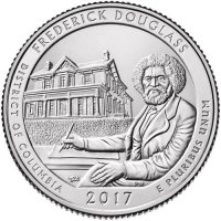 2017 Frederick Douglass Quarter Coin - P or D Mint - BU