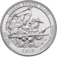 2017 George Rogers Clark Quarter Coin - S Mint - BU