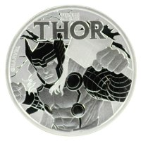 2018 1 oz Tuvalu Silver Marvel Series - Thor Coin - Gem BU