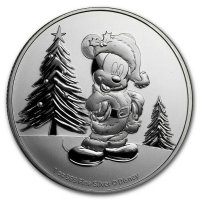 2019 1 oz Niue Silver Disney Mickey Mouse Christmas Coin - Gem BU