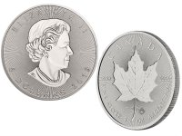 2019 1 oz Canadian Silver Incuse Maple Leaf Coin - Gem BU