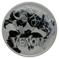 2019 1 oz Tuvalu Silver Marvel Series - Venom Coin - Gem BU