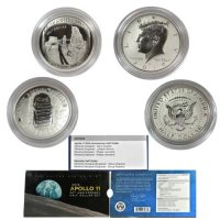 2019 Apollo 11 50th Anniversary Commemorative Half Dollar Set - Error Packaging