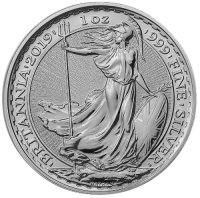 2019 1 oz Great Britain Silver Britannia Coin - Gem BU