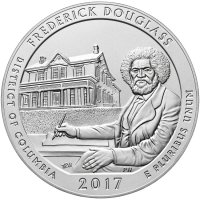 2017-P 5 oz Burnished Frederick Douglass ATB Silver Coin (w/ Box & COA)
