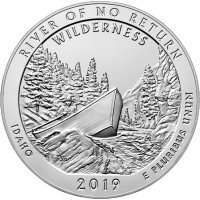 2019-P 5 oz Burnished Silver River of No Return ATB Silver Coin