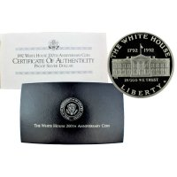 1992 White House Commemorative Silver Dollar Coin (Proof)