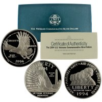 1994 Veterans Commemorative Silver Set (Proof, 3 Coin)