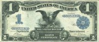 1899 $1.00 Black Eagle Silver Certificate - Large Type - Fine