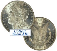 1921-S Morgan Silver Dollar Coin - BU