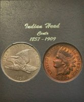 1857-1909 59-Coin Flying Eagle / Indian Cent Coin Set