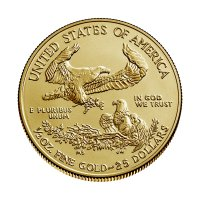 2020 1/2 oz American Gold Eagle Coin - Gem BU