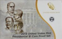 2013 U.S. Presidential Dollar Proof Coin Set