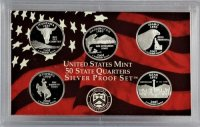 2007 U.S. State Quarter Silver Proof Coin Set
