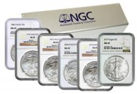 1986-2019 34-Coin 1 oz American Silver Eagle Set - NGC MS-69