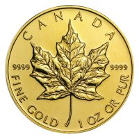 1 oz Canadian Gold Maple Leaf Coin - Random Date - Gem BU