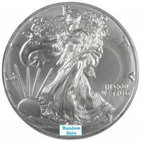 1 oz American Silver Eagle Coin - Gem Uncirculated - Random Date