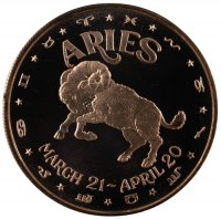 1 oz Aries Copper Round from the Zodiac Series