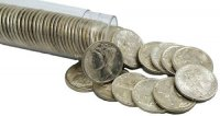 1916-1945 50-Coin 90% Silver Mercury Dime Roll - Mixed Dates - XF/AU