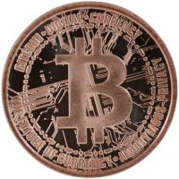 1 oz Copper Round - Bitcoin Design