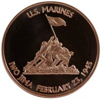 1 oz Copper Round - Iwo Jima Design