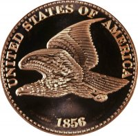 1 oz Copper Round - 1856 Flying Eagle Cent Design