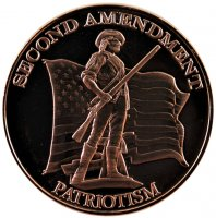 1 oz Copper Round Second Amendment Design