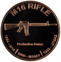 1 oz M16 Rifle Copper Round