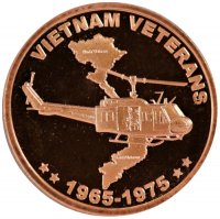 1 oz Copper Round - Vietnam Veterans Design