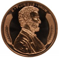 1 oz Copper Round - Lincoln Wheat Cent Design