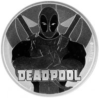 2018 1 oz Tuvalu Silver Marvel Series - Deadpool Coin - Gem BU