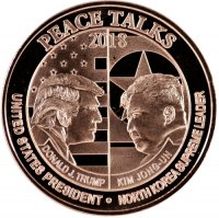 1 oz Copper Round North Korea Peace Talks 2018 Trump/Kim Face to Face
