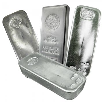 100 oz Silver Bar - Varied Condition and Mint