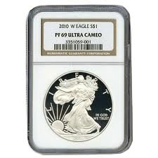 2010-W 1 oz American Proof Silver Eagle Coin - NGC PF-69 Ultra Cameo