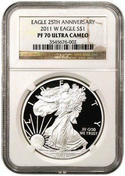 2011-W 1 oz American Proof Silver Eagle Coin - NGC PF-70 Ultra Cameo