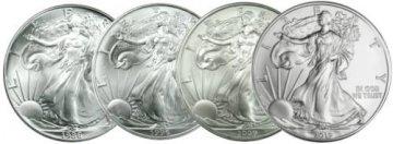 1986-2019 34-Coin Complete 1 oz American Silver Eagle Coin Set - Gem BU