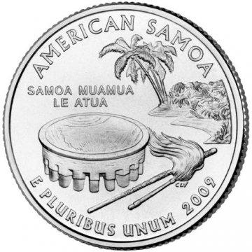2009 American Samoa Territory Quarter Coin - P or D Mint - BU
