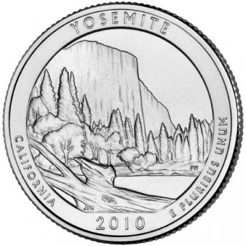 2010 Yosemite Quarter Coin - P or D Mint - BU